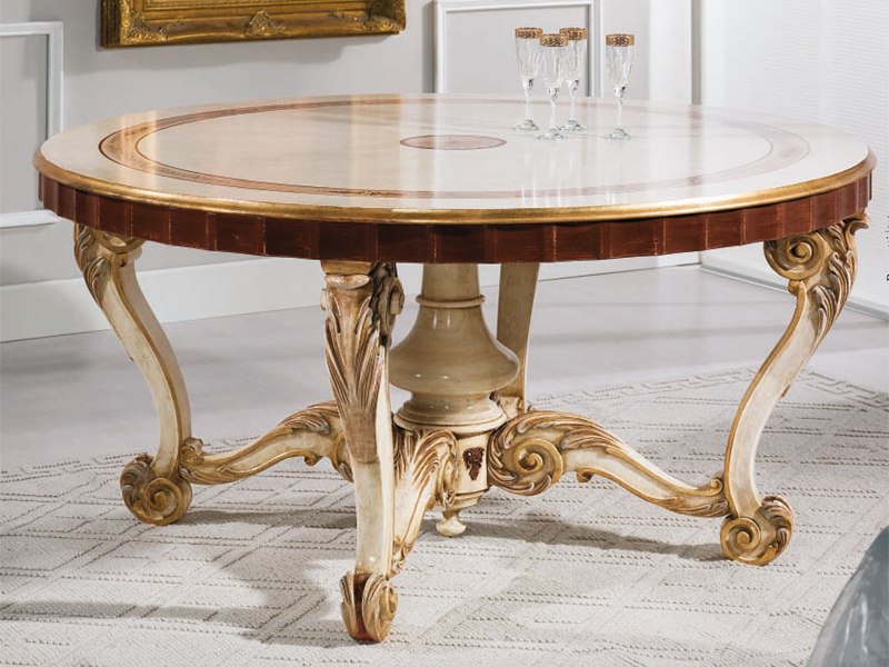 Rudiana interiors italian charming furniture - Tavolo bianco anticato ...